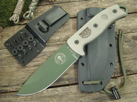 esee plain edge od blade with kydex sheath esee knives esee 5p od glass breaker od green plain
