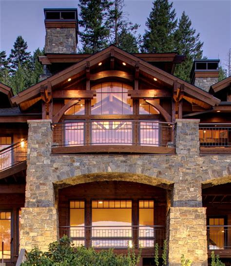Cabin Style Homes by Mountain Home Mountain Architects Hendricks