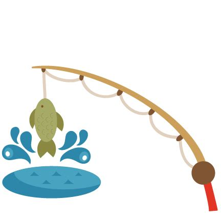 fishing clipart fishing pole svg scrapbook cut file clipart files for
