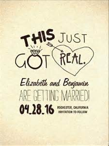 read more funny save the date and wedding invitation