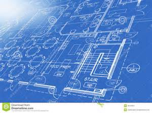 blueprint planner blue print plan stock images image 6916494