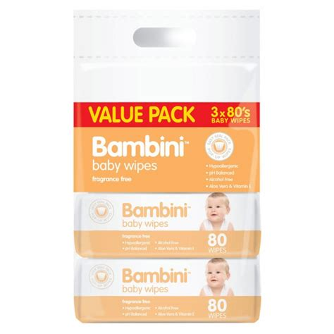 Special Baby Wipes Buy 2 Get 1 buy baby wipes value pack 240 wipes by bambini