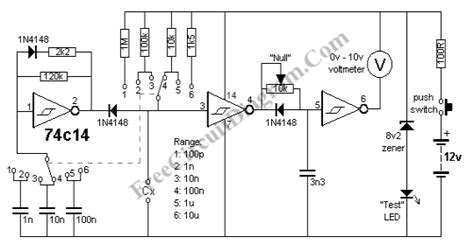 capacitor meter circuit diagram capacitance meter 555 image search results