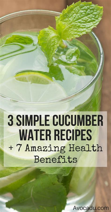 Best Cucumber Detox Water by 17 Best Images About Detox Water On Infused