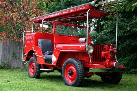 jeep fire truck 1949 willys jeep cj2a fire truck 66146