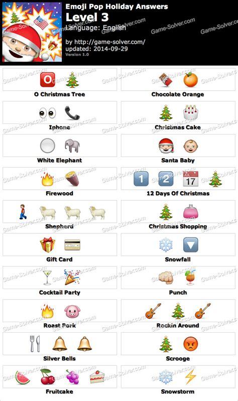 emoji quiz level 3 emoji pop holiday edition level 3 game solver