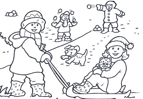 printable winter scene coloring pages coloring home