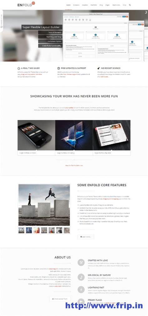 enfold theme responsive menu 35 best business portfolio wordpress themes frip in