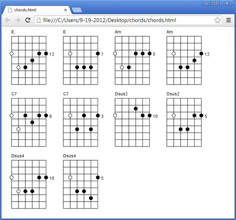 L Chord by Guitar Chord Diagram Maker Sourceforge Net