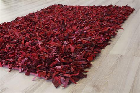 tappeto ebay tappeto in pelle a pelo lungo rosso 200x200 cm vera pelle
