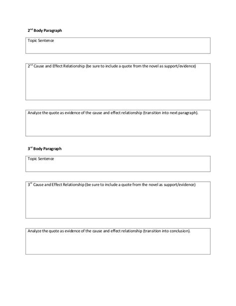 Exle Cause And Effect Essay by Cause And Effect Essay Outline