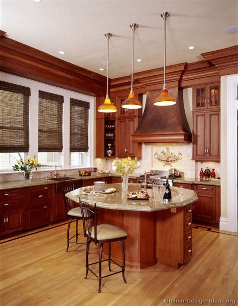 cherry wood kitchen island pictures of kitchens traditional medium wood kitchens