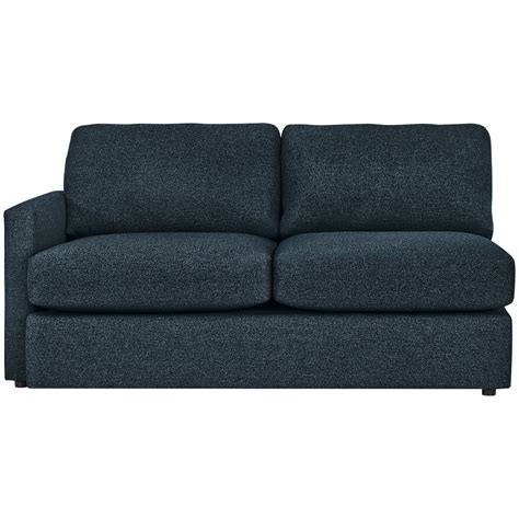 dark blue sectional city furniture noah dark blue fabric small right chaise