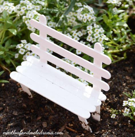 fairy garden bench easy diy fairy garden meatloaf and melodrama