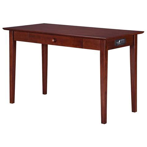 atlantic furniture harvard media writing desk in antique