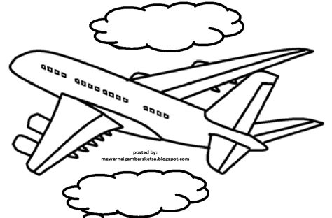 mewarnai gambar mewarnai gambar pesawat terbang 8
