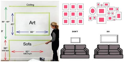 how high to hang a picture on a wall useful rules tips and ideas about how high to hang pictures