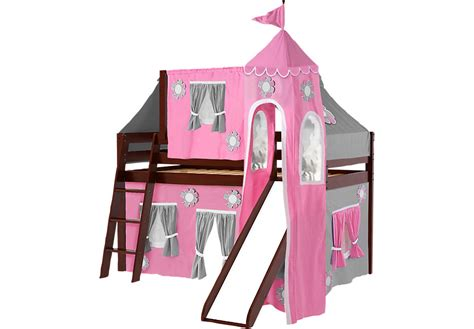 bed with slide and tent pink cottage cherry jr tent loft bed with slide top tent