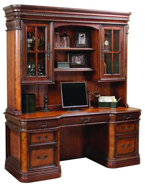 office furniture desk and credenza the cheshire home office credenza desk with hutch
