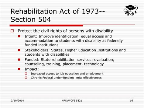 section 504 of the rehabilitation act of 1973 summary rehabilitation act of 1973 section 504 28 images