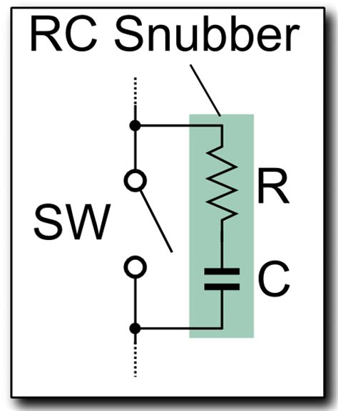 motor snubber capacitor how to the r and c values of a rc snubber what are the most important equations