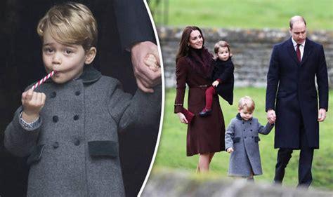 prince william kate middleton take princess charlotte kate and william take george and charlotte to church on
