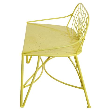 yellow garden bench metellina modern classic metal garden bench lemon yellow