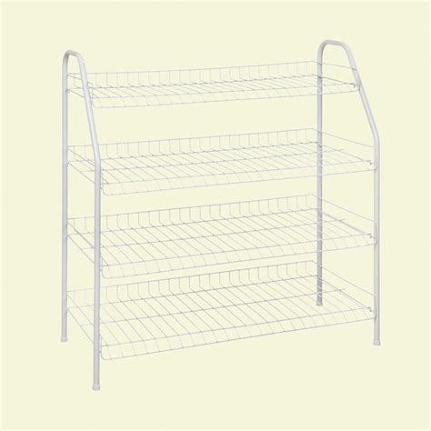 4 Tier Wire Shoe Rack by Closetmaid 12 Pair 4 Tier Ventilated Wire Shoe Rack 8131