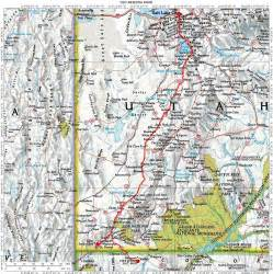 road map of utah and arizona my