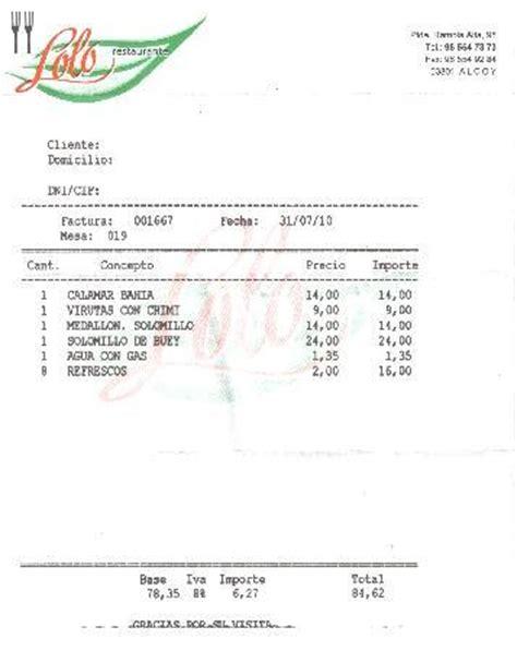 Rechnung Nr Englisch Restaurante Alcoy Restaurant Bewertungen Telefonnummer Fotos Tripadvisor