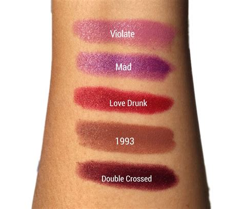 Dusty Purple by Urban Decay Little Liquid Vices Amp Lipstick Set Swatches
