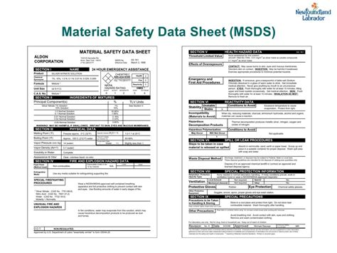 msds sections explained back off get your own acid as long as you know where to