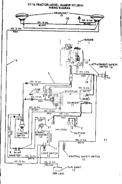 craftsman mower wiring schematic craftsman