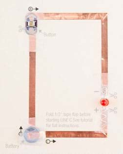 Paper Circuit Card Template by Paper Circuits Greeting Cards Activity Www