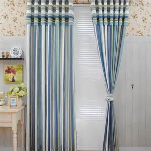 Blue Striped Curtains Blue Beige Striped Curtains Images