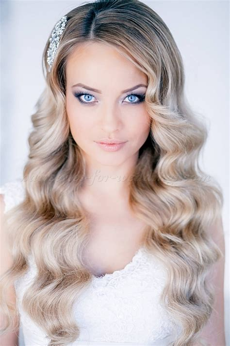 wedding hairstyles all down wavy bridal hairstyle