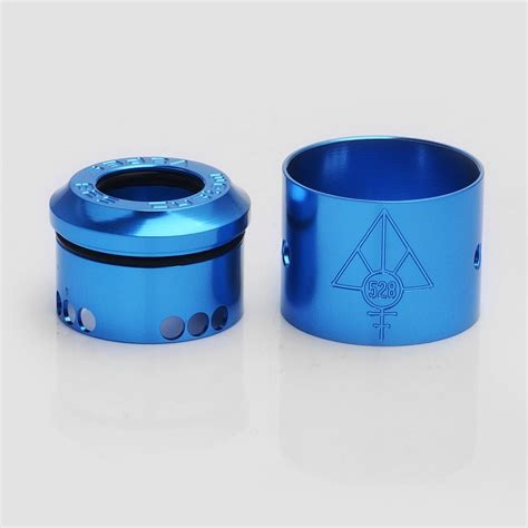 Authentic Colored Caps For Hoon 24 Rda By 528 Customs Authentic 528 Customs 24mm Goon Rda Blue Gloss Top Cap Sleeve