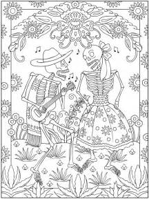day of the dead coloring sheets welcome to dover publications