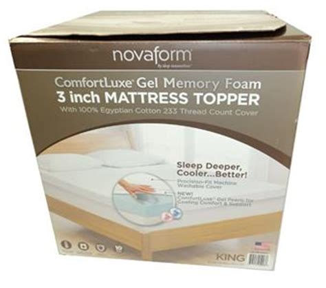 Novaform 3 Comfort Memory Foam Mattress Topper Reviews by New Novaform 3 Quot Memory Foam Mattress Topper King Sleep