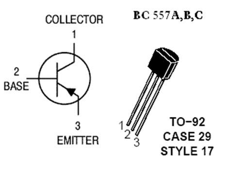 transistor bc557 pin diagram bc557 transistor 100ma 45v 5pcs pnp switching lifier transisor ebay