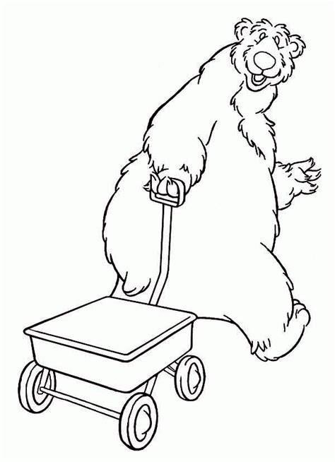 bear inthe big blue house coloring pages coloring home