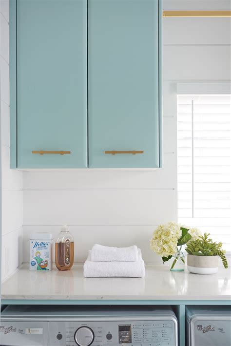 Turquoise Laundry Room Cabinet Paint Color   Home Bunch