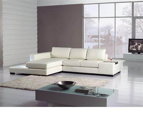 t35 mini modern leather sectional sofa dreamfurniture divani casa t35 mini leather