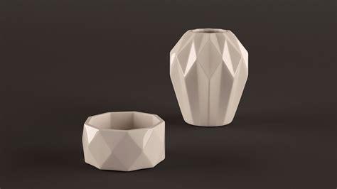 Origami 3d Models - origami vases 3d model max obj fbx cgtrader