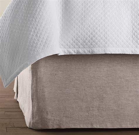 linen bed skirts vintage washed belgian linen bed skirt my dream house
