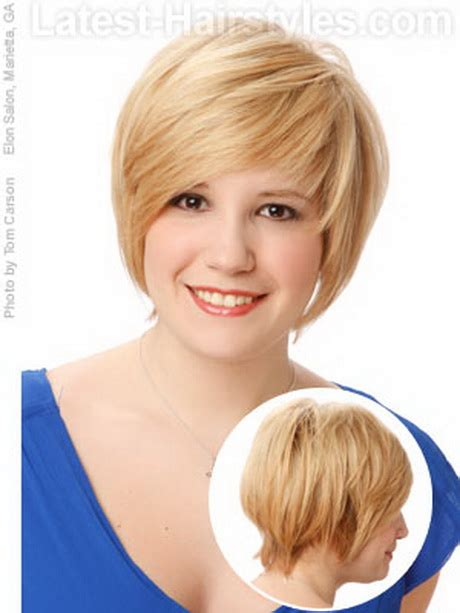 haircuts for thin hair chubby face short hairstyles for thin hair and round face