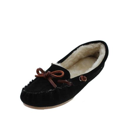 womens outdoor slippers g h bass co 1326 womens suede indoor outdoor moccasin slippers shoes bhfo ebay