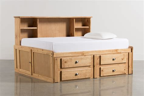Roomsaver Bed by Summit Caramel Roomsaver Bed W 4 Drawer Storage Unit