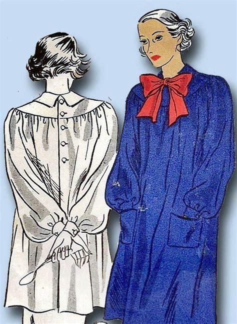 pattern artist smock 1930s vintage artist s smock 1936 du barry sewing pattern