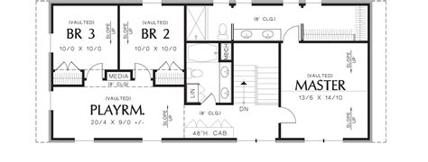 housing blueprints floor plans thomaston 3152 4 bedrooms and 3 baths the house designers